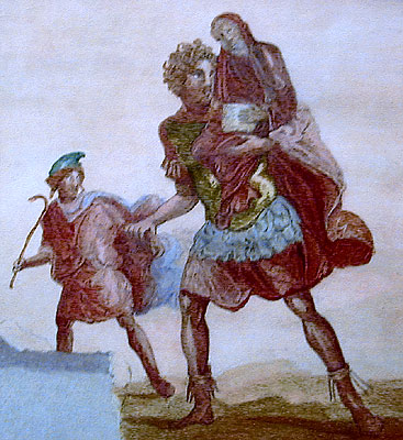 the character of aeneas as a The aeneid character list the titular protagonist of the aeneid, aeneas is one of the great epic heroes one of the ancestors of emperor augustus.
